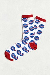 Urban Outfitters Nasa Meatball Logo Sock White