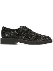 Giuseppe Zanotti Design Glitter Derby Shoes Black