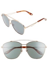Givenchy Women's 65Mm Round Aviator Sunglasses Gold Copper