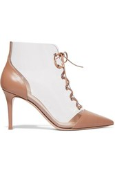 Gianvito Rossi Leather And Pvc Ankle Boots Blush