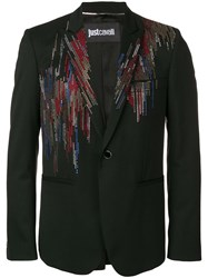 Just Cavalli Crystal Embellished Blazer Black