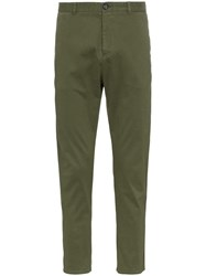 Lot 78 Lot78 Side Stripe Cropped Chino Trousers Green