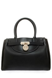 Hill And Friends Happy Leather Tote Bag Black