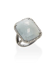Bavna Sapphire Champagne Diamond And Sterling Silver Ring White