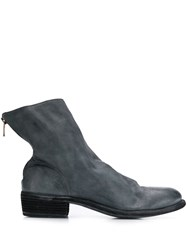 Guidi Short Back Zip Boots Blue