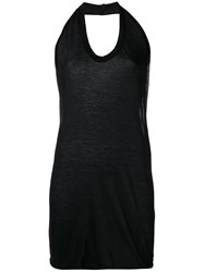 Rick Owens Oversized Halter Top Black