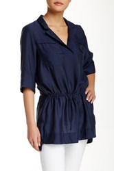 Zoa Drawstring Tunic Blue