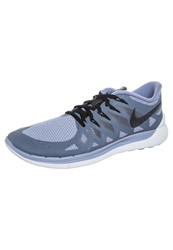 Nike Performance Free 5.0 Lightweight Running Shoes Cool Blue Black Wolf Grey