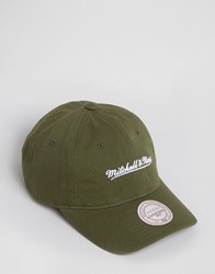 Mitchell And Ness Baseball Cap Adjustable Green