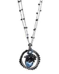 Emily And Ashley Long Crystal Pendant Necklace Black