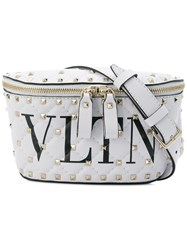 Valentino Studded Logo Belt Bag White