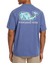 Vineyard Vines Turtle And Starfish Whale Pocket Tee Moonshine Blue