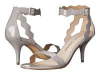 Chinese Laundry Rubie Scalloped Sandal Grey Patent High Heels Gray