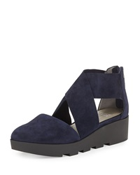 Buoy Crisscross Suede Wedge Sandal Eileen Fisher