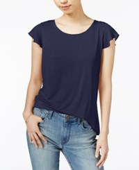 Maison Jules Flutter Sleeve Top Only At Macy's Blu Notte