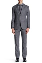 John Varvatos Hampton Two Button Notch Lapel Suit Gray