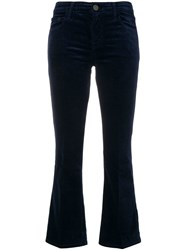 J Brand Mid Rise Cropped Trousers Blue