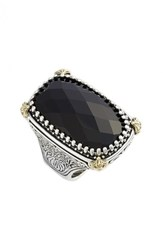 Women's Konstantino 'Nykta' Black Onyx Ring