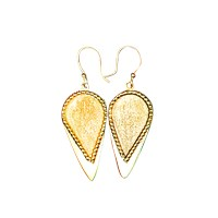 Alexander Betty Smooth Tip Spear Head Earrings 18K Gold Plated Brass