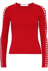 Bailey 44 Osaka Cutout Knitted Top Red
