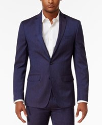 Sean John Men's Classic Fit Blue Solid Suit Jacket