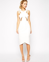 Style Stalker Stylestalker Parallel Midi Dress With Cut Outs White