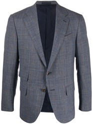 Caruso Single Breasted Fitted Blazer Grey