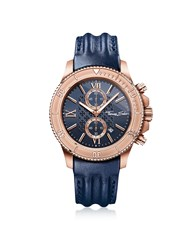 Thomas Sabo Men's Watches Rebel Race Rose Gold Stainless Steel Men's Chronograph Watch W Blue Leather Strap