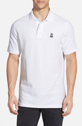 Men's Psycho Bunny Pique Knit Polo White