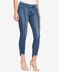 William Rast Frayed Step Hem Skinny Jeans Vivid Shadow