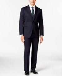 Tommy Hilfiger Slim Fit Solid Navy Suit