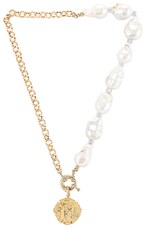 Joolz By Martha Calvo Cait Necklace In Metallic Gold.