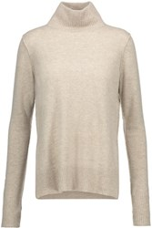 Line Serena Cashmere Turtleneck Sweater Beige