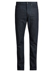 Bottega Veneta Straight Leg Striped Jeans Navy