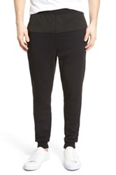 Lacoste 'Lifestyle' Textured Panel Knit Sweatpants Black
