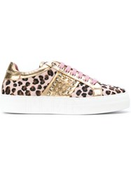 Philipp Plein Leopard Print Sneakers Women Calf Leather Calf Hair Rubber 35.5
