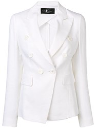 Luisa Cerano Fitted Double Breasted Blazer White