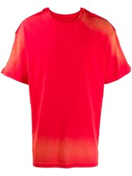 Martine Rose Two Tone T Shirt Red