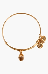 Alex And Ani 'Cupcake' Expandable Wire Bangle Russian Gold