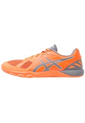 Asics Conviction X Sports Shoes Shocking Orange Carbon Midgrey