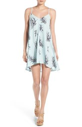 Women's Mimi Chica Print Swing Camisole Dress Mint Black Floral