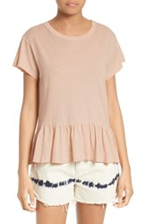 The Great Women's Great. Ruffle Tee Pale Pink
