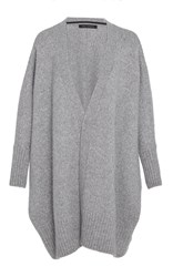 Sally Lapointe Washed Silk Cashmere Oversized Cardigan Grey