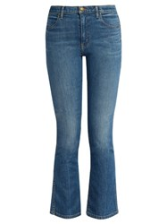 The Great Nerd High Rise Cropped Kick Flare Jeans Denim