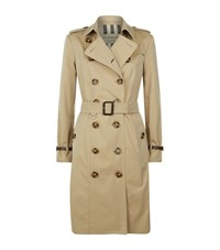Burberry The Sandringham Leather Trim Trench Coat Female Neutral