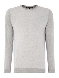 Aquascutum London Harley Plain Crew Neck Pull Over Jumper Grey