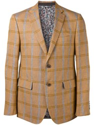 Etro Checked Blazer Brown