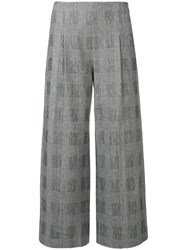 Chalayan Cropped Checked Trousers Black