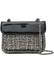 Rodo Embroidered Shoulder Bag Black