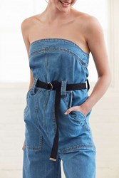Urban Outfitters Canvas D Ring Belt Black